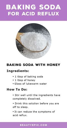 Baking soda for acid reflux is one of the best home remedies that may be used to relieve symptoms of acid reflux