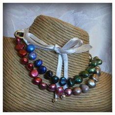 Rainbow pearls Doodlebert Designs | Necklaces