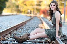 Railroad Senior Portraits by Cherished moments by Court photography located in Woodstock, GA cmbcphotography.com