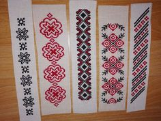 Semne de carte cusute pe etamină Palestinian Embroidery, Sewing Patterns, Blog, Crafts, Stitching, Bookmarks, Magick, Punto De Cruz, Dots