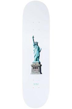 """Zoo York Lady Liberty 8"""" Deck (white) Skateboard, Liberty, Deck, Big, Lady, Green, Silver, Shopping, Skateboarding"""
