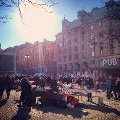 Hötorget, hay market Monday to Saturday and flee market on Sundays.