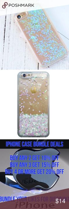 🍀 SPECIAL iPhone 7 Plus Glitter Quick Sand Case ➡️Discount Only With Bundle Of 2 Or More Items⬅️  Show off your iPhone  while protecting it from bumps and scratches.  * High Quality Hardshell Case * Gorgeous Iridescent Glitter with Hearts  * Bump/ Anti Shock  * Fitted Design * New In Package  * Same Or Next Day Shipping Accessories Phone Cases