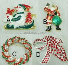 Christmas Style Brooch (Welcomed Designs) - China brooch