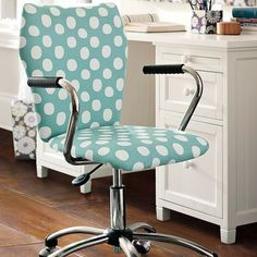 Painted Dot Airgo Chair | PBteen. I love this chair, but without arms. So cute!