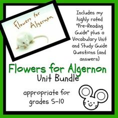 """This bundle includes my highly-rated """"Flowers for Algernon Pre-Reading Guide"""" plus a vocabulary unit and set of study guide questions with answer k. Teaching Shapes, Teaching Tips, Teaching Reading, Psychology Experiments, Flowers For Algernon, English Short Stories, 8th Grade Ela, Vocabulary Activities, Upper Elementary"""