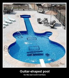 ...badass.  Guitar shaped pools are for true rock'n'roll party queens.