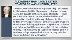 """Alexander Hamilton described exactly the kind of president we should fear. Remind you of anyone? Hobby Horse, Private Life, Alexander Hamilton, George Washington, Current Events, Presidents, Lettering, My Love, Twitter"