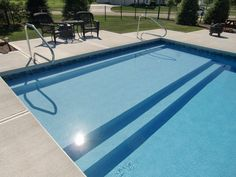 35 Luxury Sun Shelf Pool Design - Since a sun shelf is basically just a raised part of yourpool floor, there are a good deal of design alternatives available. Including a sun shelf doe. by Joey