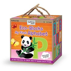 #Sassi Junior: Eco-blocks - My First Alphabet. 10 coloured blocks with a 10-pages book. #eco #friendly #book #game