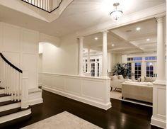 Dark floors white walls
