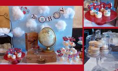 Vintage Airplane Baby Shower by A Charming F�te | CatchMyParty.com