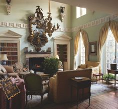 Home Interior Green Habitually Chic Drue Heinz Auction at Christies Handmade Home Decor, Cheap Home Decor, Types Of Ceilings, Palmer House, French Apartment, Mews House, Wainscoting Panels, Rustic Industrial Decor, World Of Interiors