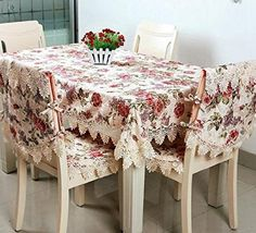 Amazoncom FADFAY Beautiful Floral TableCloths Lace Rectangular