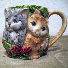 Takahashi cats and strawberries mug