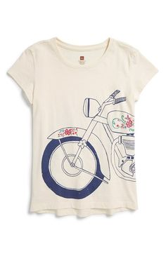 Tea Collection 'Motocicleta' Graphic Print Cotton Tee (Toddler Girls, Little Girls & Big Girls) available at #Nordstrom