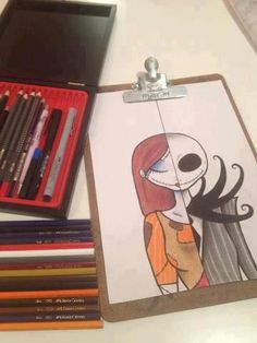 Drawing Halloween Nightmare Before Christmas 48 Ideas Disney Drawings, Cute Drawings, Drawing Sketches, Drawings Of Tattoos, Drawing Ideas, Arm Tattoos, Disney Kunst, Disney Art, Arte Tim Burton