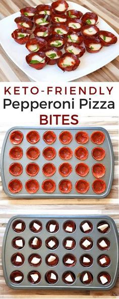 Whenever I'm craving pepperoni pizza on a keto diet, I make these keto-friendly pepperoni pizza bites. Pretty simple to put together and they taste just like a pepperoni pizza. low-carb appetizers that taste just like pepperoni pizza! Ketogenic Recipes, Low Carb Recipes, Diet Recipes, Snack Recipes, Healthy Recipes, Ketogenic Diet, Pizza Recipes, Skillet Recipes, Paleo Diet