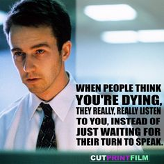 FIGHT CLUB (1999)    #FightClub #Movies #MovieQuotes #Quotes #BradPitt #EdwardNorton #DavidFincher #90s #Funny