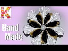 kanzashi flower tutorial,hair accessories,How to make kanzashi DIY - YouTube
