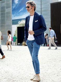 40代の男性(メンズ)ファッション 春にしたいコーデ特集 30代40代男性が始めるファッション・髪型・筋トレ Gentleman Mode, Gentleman Style, Casual Blazer, Casual Outfits, Men Casual, Men's Outfits, Mens Fashion Blog, Urban Fashion, Fashion Design