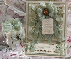 Rows and Rows of Pretty Bows ~ Easel Card Tutorial Easel Cards, Ribbon Crafts, Ecommerce, Scrap, Doodles, Gift Wrapping, Bows, Create, Fabric
