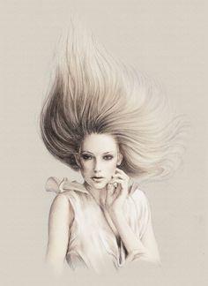 Fashion Illustration by Anca G. Lungu, via Behance