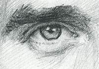 How to use drawing techniques - crosshatching, shading with pencil and pen. Portrait-artist.org