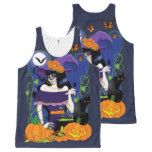 All Hallow's Eve All-Over-Print Tank Top #halloween #happyhalloween #halloweenparty #halloweenmakeup #halloweencostume