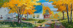 Louise Martineau, 'Chemin du Mitan, I.-O.', 20'' x 50'' | Galerie d'art - Au P'tit Bonheur - Art Gallery