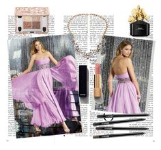 """A-line Strapless Sleeveless Chiffon Prom Dresses With Beaded"" by johnnymuller on Polyvore featuring Chanel and Marc Jacobs"