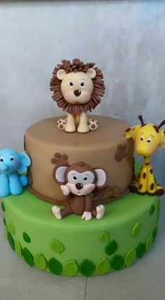 "más No más (Spanish for ""no more"") may refer to: Jungle Theme Cakes, Jungle Theme Birthday, Safari Cakes, Baby Birthday, Safari Baby Shower Cake, Baby Shower Cakes, Fondant Animals, Animal Cakes, Cute Cakes"