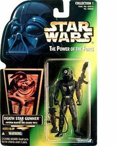1996 Hasbro Star Wars Power of the Force Green Hologram Card Death Star Gunner with Imperial Blaster and Assault Rifle by Kenner. $1.39. Star Wars POWER OF THE FORCE GREEN CARD PHOTO DEATH STAR GUNNER ACTION FIGURE. KENNER 1996 POWER OF THE FORCE GREEN CARD PHOTO DEATH STAR GUNNER ACTION FIGURE