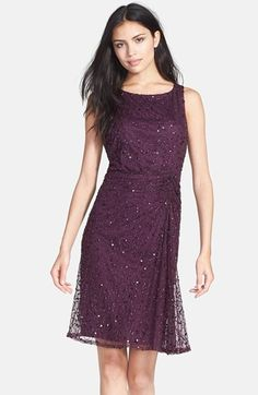 Pisarro Nights Sequin & Bead Gathered Mesh Dress (Regular & Petite) available at #Nordstrom in sizes 2 through 16 for $128