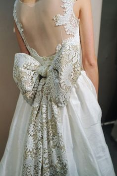Brides Gowns Handfastings Weddings:  A beautiful back bow.