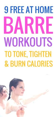 9 Barre Workouts To Tone Everything At Home - Beauty Bites Tone y. - 9 Barre Workouts To Tone Everything At Home – Beauty Bites Tone your entire body w - Ballet Barre Workout, Barre Moves, Barre Exercises At Home, Barre Workout Video, Cardio Barre, Home Workout Videos, Best At Home Workout, Toning Workouts, Fun Workouts