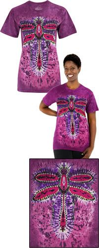 Dragonfly Tie Dye Shirt from $24.95. Your purchase aids in autism research and therapy through The Autism Site.