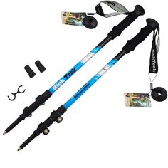 High Trek Trekking Poles [ Pair ] Hiking / Walking Sticks Ultralight äóñ EVA Grips  Easy Flip Locks *** See this great product.