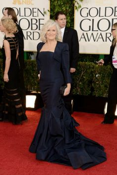 #GlennClose #NavyBlue #BestDress #GoldenGlobes2013
