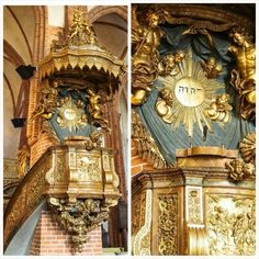 #Tetragrammaton on the great church in Stockholm pulpit #Godsname #Jehovah…