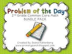 190 2nd grade math problems for the WHOLE year!!  Covers all 2nd grade CCSS!!