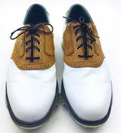 0be25ddc95f FJ Footjoy Men Golf Shoes DryJoys Tour Opti Flex 2 White Brown  53699 Size  12M