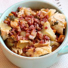 Click for original post Serves: 6 Time: 1 h 20 m(20 m prep, 60 m cook) Ingredients: (Ingredients and measurements subject to availability) - 2 tablespoons olive oil* - 1 – 4 oz piece pancetta, diced -