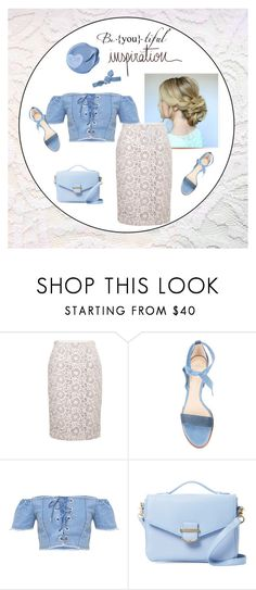 """""""lace up corset top"""" by rvazquez ❤ liked on Polyvore featuring Fenn Wright Manson, Alexandre Birman, Cynthia Rowley, Colette Malouf, Summer, denim, lace and laceup"""