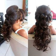 Kids Hairstyles For Wedding, Flower Girl Hairstyles, Little Girl Hairstyles, Easy Hairstyles, Punky Hair, Communion Hairstyles, Wedding Curls, Pageant Hair, Hair Due