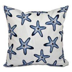Beachcrest Home Rocio Soft Starfish Geometric Print Outdoor Throw Pillow