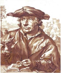 Jan de Bisschop after Quinten Massijs (I) Portrait of a man Artcurial (Paris) 2014-11-18, nr. 2 ~ drawing