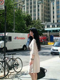 Jennifer Kaya Canadian fashion blogger www.jenniferkaya.com #fashion #fashionblogger  #fashion #leather bag #outfit #skirt  #ootd #style #business outfit #classic #elegant  #cute #heels #high heels  #fall # autumn #summer # dress #beige dress