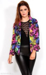 Electro effect blazer €18 from Adverts.ie #Blazer #bringbackthe80s