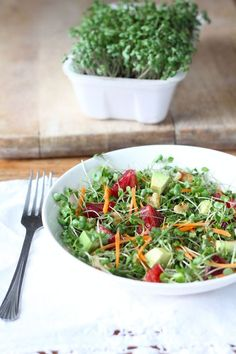 Microgreens Salad recipe Microgreens are very popular with chefs because they're so tasty and elegant. They're often used in fancy restaurants and they can be pricey in health food stores. But there's no need to pay a small fortune for them. For the price of a few tubs of regular salad greens, you can grow enough microgreens to enjoy a whole winter's worth of salads, packed with top-notch vitamins, minerals, and phytonutrients.
